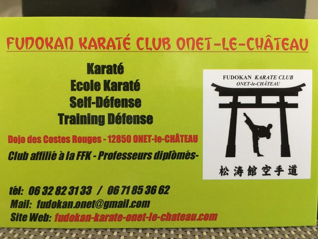 Carte De Visite Fudokan KC Onet Le Chteau